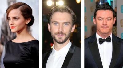 Beauty And The Beast Emma Watson And Luke Evans And Dan Stevens