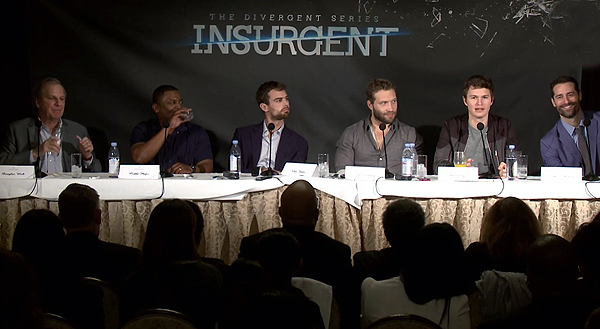 Insurgent Junket with Douglas Wick (producer), Mekhi Phifer, Theo James, Jai Courtney, Ansel Elgort and Todd Lieberman (producer)